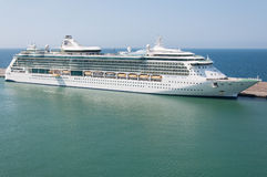 Royal Caribbean cruise ship. Serenade of the Seas cruise ship docked in Chivitaveccia port of Rom, Italy Royalty Free Stock Photos