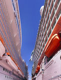Royal caribbean cruise ships. Picture of two royal caribbean ships Royalty Free Stock Photo