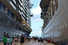 Royal Caribbean Cruise ships Stock Photography