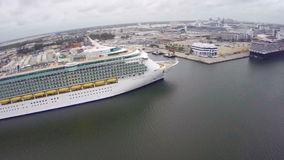 Royal Caribbean docked at Port Everglades stock video