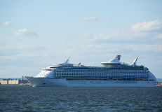 Royal Caribbean Explorer of the Seas Cruise Ship leaving New York Stock Photo