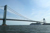 Royal Caribbean Explorer of the Seas Cruise Ship under Verrazano Bridge Royalty Free Stock Image