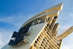 Royal Caribbean Logo. Captured on Mariner of the Seas sailing from Singapore Royalty Free Stock Images