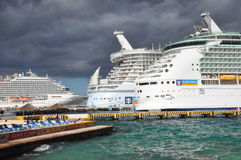 Royal Caribbean's Allure & Mariner of the Seas Royalty Free Stock Photo