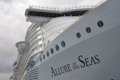 Royal Caribbean's Allure of the Seas royalty free stock photos