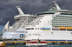 Royal Caribbean's Allure of the Seas & Mariner of the Seas Royalty Free Stock Images