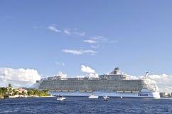 Royal Caribbean ship leaves harbor Royalty Free Stock Image