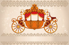 Royal carriage. The grunge background Stock Photos