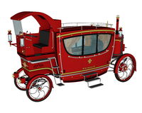 Royal carriage - 3D render Royalty Free Stock Photography