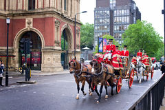 Royal carriage on the streets of London Royalty Free Stock Photo