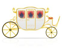 Royal carriage for transportation of people vector illustration Royalty Free Stock Photo