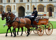 Royal Carriage Windsor Castle UK royalty free stock photo