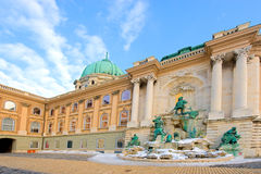 The royal castle in Budapest Stock Image