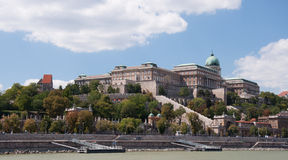 The royal castle in Budapest Royalty Free Stock Image