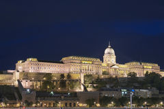 The royal castle in Budapest Stock Photos