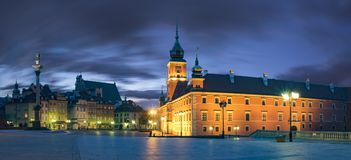 Royal Castle in the capital of Poland, Warsaw Stock Photos
