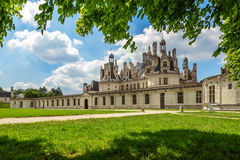 The royal Castle of Chambord in Cher Valley Royalty Free Stock Images