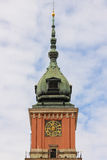 Royal castle. Clock tower. Warsaw. Poland Stock Photo