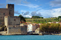 Royal castle of Collioure Stock Photo