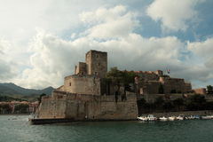 Royal castle of Collioure in France Stock Photo