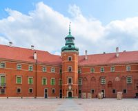 Royal Castle courtyard, Warsaw, Poland Royalty Free Stock Photos