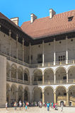 Royal Castle, Cracow. Courtyard of the renaissance royal castle on Wawel Hill, Krakow, Poland Stock Image