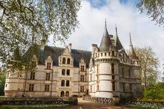Royal castle of d'Azay-le-Rideau, Loire Valley. France stock photography