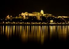 Royal Castle at Danube River Royalty Free Stock Photos