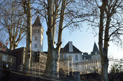 Royal castle in the French city Pau. The Pau castle and its surrounding parks and gardens are located in the center of city and dominates that historical quarter Royalty Free Stock Images