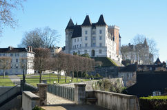 Royal castle in the French city Pau Stock Photos