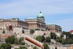 Royal castle on hill Budapest Royalty Free Stock Photography