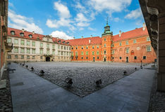 Royal Castle the inner yard, Warsaw, daily photo. Royalty Free Stock Photo