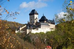 Castle Karlstejn in the Central Bohemia, Czech republic. Royal castle Karlstejn in the Central Bohemia, Czech republic Stock Photography