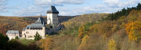 Castle Karlstejn in the Central Bohemia, Czech republic Stock Images