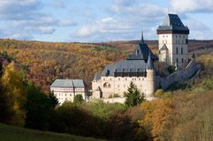 Castle Karlstejn in the Central Bohemia, Czech republic Royalty Free Stock Photography