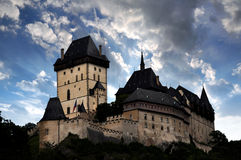 The royal castle Karlstejn in Czech Republic Royalty Free Stock Images