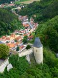 Royal castle Karlstejn in Czech Republic. View from tower Royalty Free Stock Photo