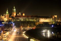 Royal Castle in Krakow, Poland royalty free stock photos