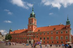 Royal Castle of Warsaw, Poland. Royal Castle and The Kubicki Arcades in the Old Town of Warsaw, Poland Royalty Free Stock Photos