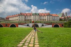 Royal Castle of Warsaw, Poland. Royal Castle and The Kubicki Arcades in the Old Town of Warsaw, Poland Royalty Free Stock Photo