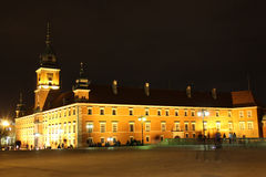 Royal castle at night. Warsaw. Poland Stock Images