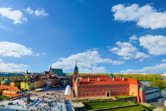 Royal castle and old town in a summer day Stock Images