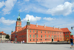 Royal Castle in old town of Warsaw Royalty Free Stock Photo