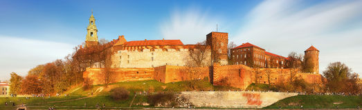 Royal castle of the Polish kings on the Wawel hill, Kwakow, Poland Stock Images