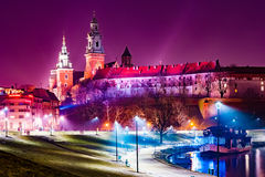 Royal castle of the Polish kings on the Wawel hill Royalty Free Stock Photo