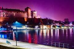 Royal castle of the Polish kings on the Wawel hill Stock Image