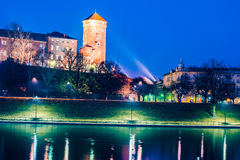 Royal castle of the Polish kings on the Wawel hill Royalty Free Stock Photos