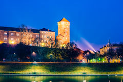 Royal castle of the Polish kings on the Wawel hill Stock Photos