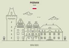 Royal Castle in Poznan, Poland. Landmark icon stock photo