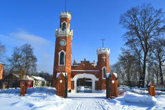 The royal castle in the Russian. Winter landscape stock images